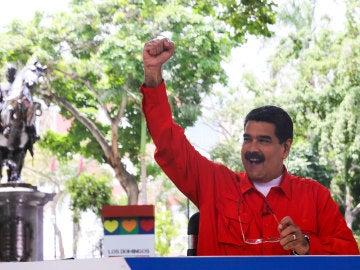 Nicolás Maduro en un acto del Gobierno venezolano