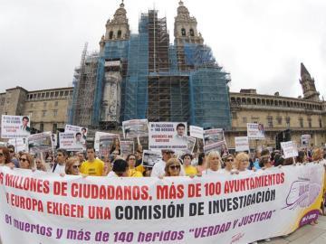 Manifestación por las víctimas del tren de Angrois