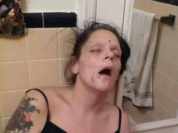 La mujer durante su adicción a las drogas