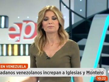 Ciudadanos venezolanos increpan a Pablo Iglesias e Irene Montero
