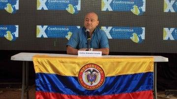 """Julián Gallo, alias """"Carlos Antonio Lozada"""", miembro del Estado Mayor de las Fuerzas Armadas Revolucionarias de Colombia (FARC)"""