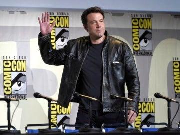 Ben Affleck presentando 'La Liga de la Justicia' en la Comic-Con