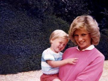 Lady Di y el príncipe Guillermo