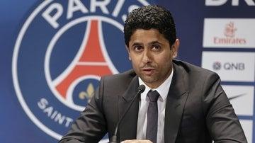 El presidente del PSG, Nasser  Al Khelaifi