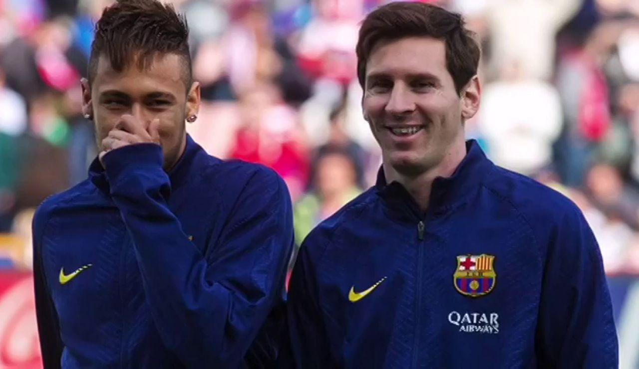 Neymar y Messi cuando coincidieron en el Barça