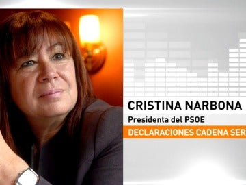 Cristina Narbona admite la posibilidad de que se celebre el referéndum de Cataluña