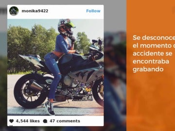 Muere una 'instagramer', famosa por sus acrobacias en la moto, por un choque a alta velocidad