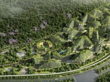 China construye la primera ciudad-bosque del mundo