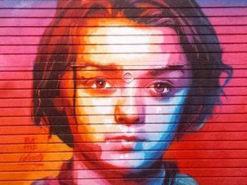 Grafiti de Arya Stark en Barcelona