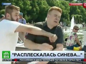 Agresión a un reportero en Rusia