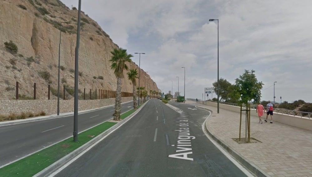Avenida donde ocurrió el accidente mortal