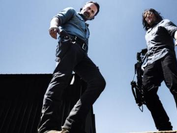 Rick (Andrew Lincoln) y Daryl (Norman Reedus) octava temporada.