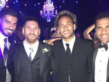 La MSN y Alves en la boda de Leo