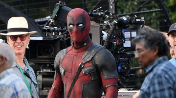 Ryan Reynolds en el rodaje de 'Deadpool 2'