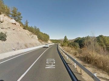 N-230, carretera donde ha fallecido el ciclista