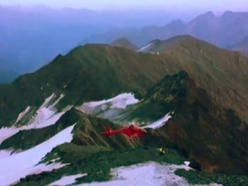 Impactante accidente de un helicóptero de rescate en Austria
