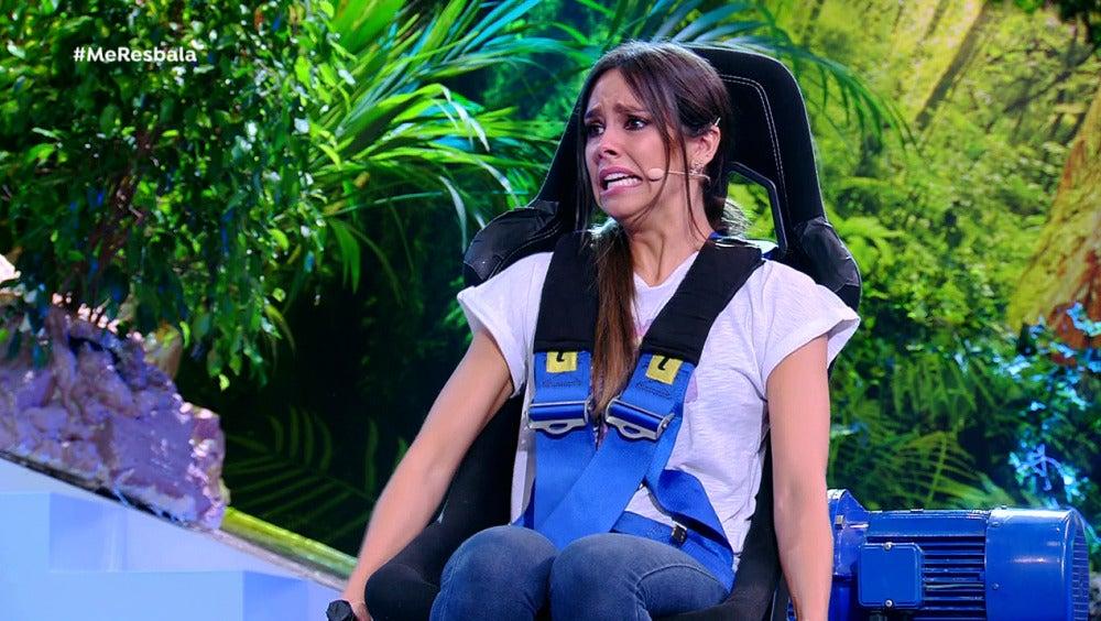 La silla giratoria de 'Me resbala' hace llorar a Cristina Pedroche