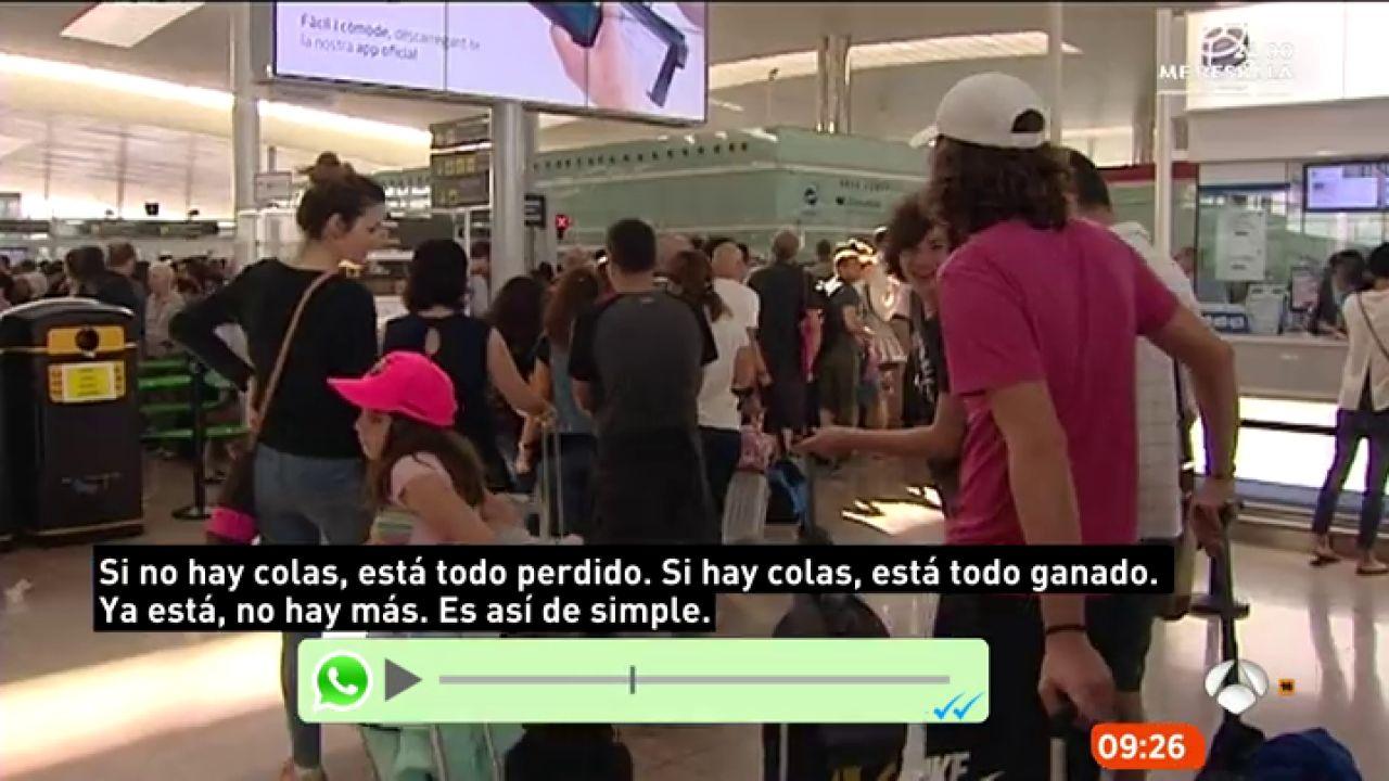 Trabajadora del aeropuerto del prat cuantas m s colas for Espejo publico hoy completo