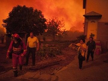 Ourense entre llamas (04/08/2017)