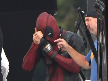 Ryan Reynolds en el rodaje de 'Deadpool 2'