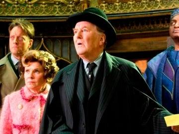 Robert Hardy en la saga 'Harry Potter'