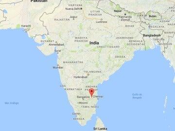 Cuatro turistas españoles y un conductor indio muertos en un accidente de tráfico en el sur de India