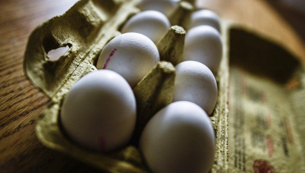 Imagen de archivo de una caja de huevos