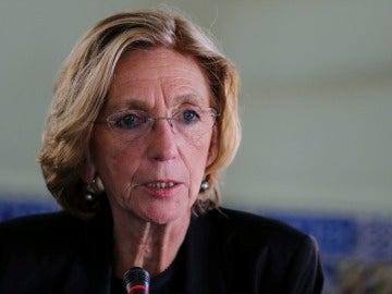 La senadora del partido gobernante en Francia La República en Marcha Nicole Bricq