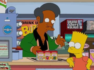 Apu Nahasapeemapetilan con Bart Simpson