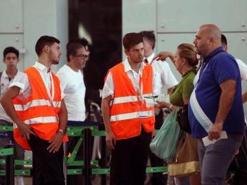 Aeropuerto de El Prat en la jornada de huelga