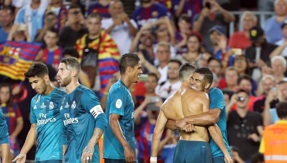 Cristiano Ronaldo celebra su gol ante el Barcelona