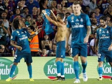 Cristiano celebrando su gol