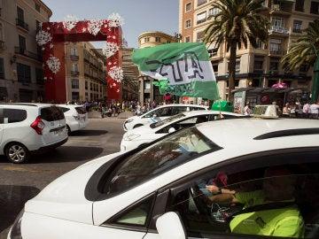 Huelga de taxistas en Málaga