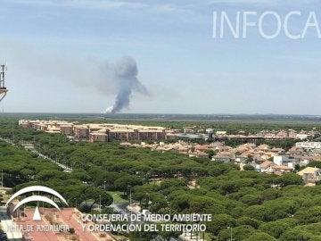 Ampliado el dispositivo organizado para sofocar el incendio forestal de Cartaya (Huelva)