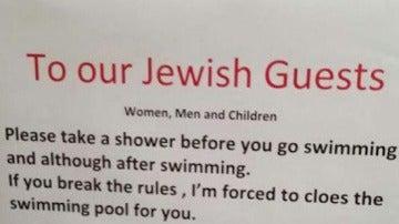 Cartel acusado de antisemita