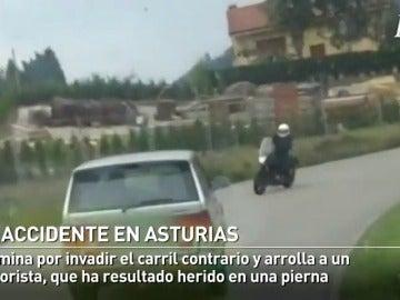 Un todoterreno se lleva por delante a un motorista en Pravia