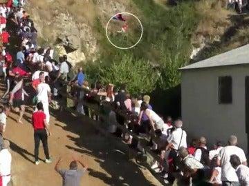 """Cinco personas heridas en el popular """"encierro del Pilón· en Navarra"""