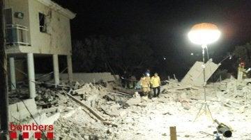 Así ha quedado la vivienda tras la explosión