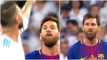 Sergio Ramos y el gesto que enfadó a Messi