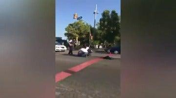 Un mosso d'Esquadra, atropellado en un punto de control en la avenida Diagonal