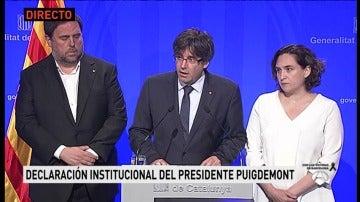 """Puigdemont: """"Cataluña es y será tierra de paz"""""""