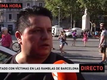 """Carlos, testigo del atentado: """"Vi una furgoneta con dos personas, pero no sé si serían más"""""""