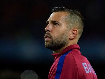 Jordi Alba, durante un partido con el Barça
