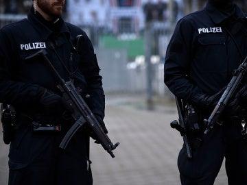 Agentes de la policía holandesa