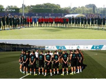 El Barcelona y el Real Madrid, guardando minutos de silencio por los atentados de Barcelona