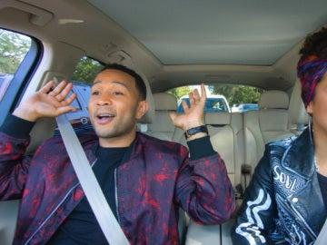Alicia Keys y John Legend en el 'Carpool Karaoke'