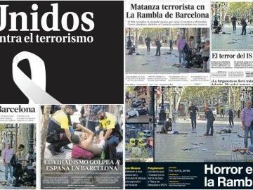 Las portadas de los diarios nacionales