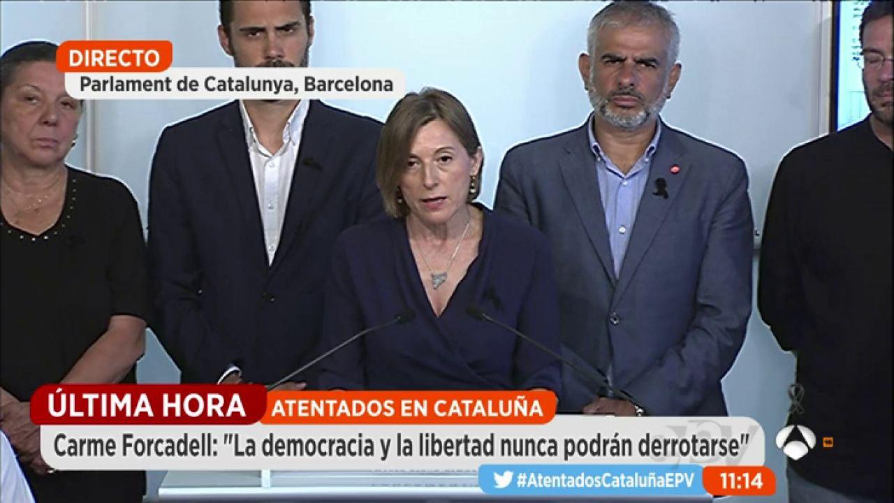 Carmen forcadell presidenta del parlament la democracia for Espejo publico hoy completo
