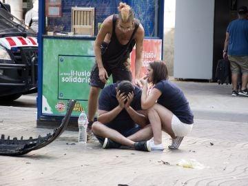 Víctimas del atropello en Las Ramblas