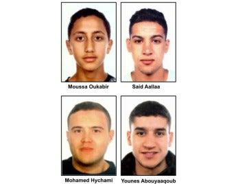 Difunden los nombres y la imagen de cuatro personas presuntamente vinculadas a los atentados de Cataluña